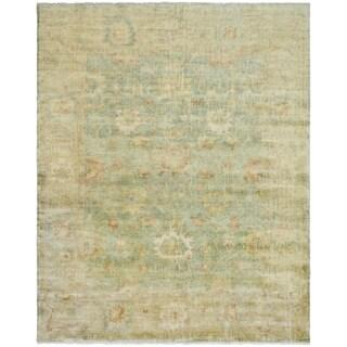 Safavieh Hand-knotted Oushak Dark Green/ Brown Wool Rug (10' x 14')