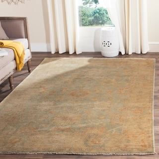 Safavieh Hand-knotted Oushak Dark Green/ Brown Wool Rug (10' x 14')