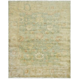 Safavieh Hand-knotted Oushak Dark Green/ Brown Wool Rug (9' x 12')