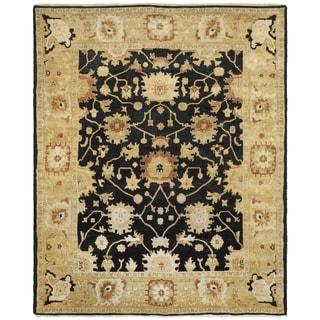 Safavieh Hand-knotted Oushak Black/ Light Gold Wool Rug (6' x 9')