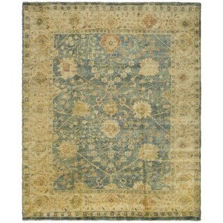 Safavieh Hand-knotted Oushak Medium Blue/ Green Wool Rug (6' x 9')