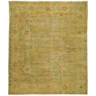 Safavieh Hand-knotted Oushak Dark Green/ Light Green Wool Rug (10' x 14')