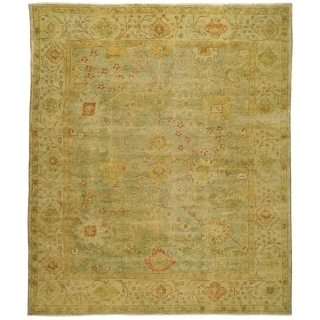 Safavieh Hand-knotted Oushak Dark Green/ Light Green Wool Rug (8' x 10')