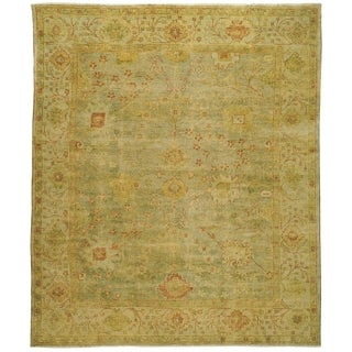Safavieh Hand-knotted Oushak Dark Green/ Light Green Wool Rug (9' x 12')