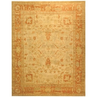 Safavieh Hand-knotted Oushak Ivory/ Rust Wool Rug (6' x 9')