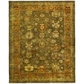 Safavieh Hand-knotted Oushak Brown/ Rust Wool Rug (6' x 9')