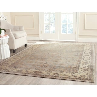 Safavieh Hand-knotted Oushak Blue/ Ivory Wool Rug (9' x 12')