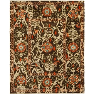 Safavieh Traditional Oushak Brown Cream Power Loomed Rug
