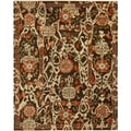Safavieh Hand-knotted Oushak Brown Wool Rug (4' x 6')