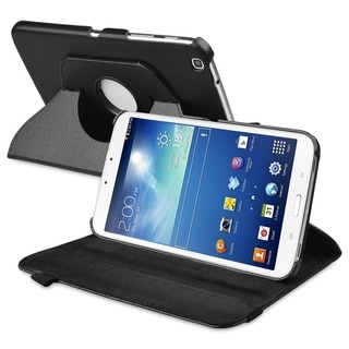 BasAcc Black 360 Swivel Leather Case for Samsung� Galaxy Tab 3 8.0