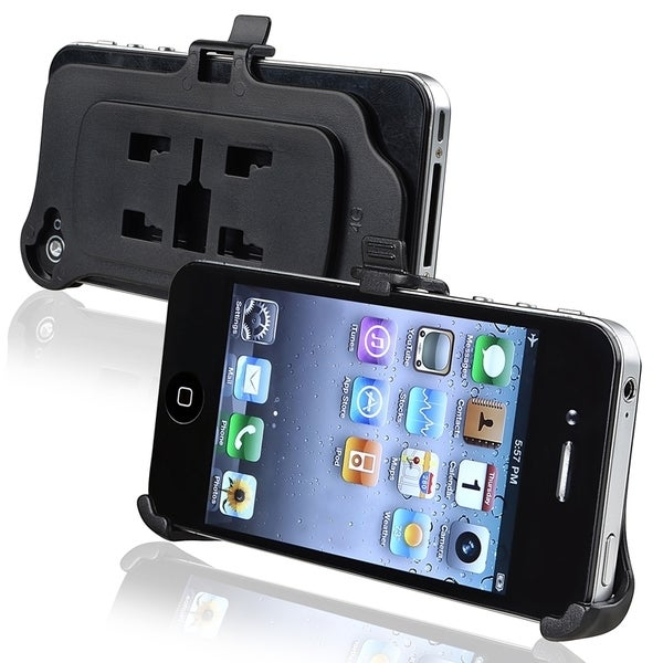 INSTEN Black Phone Holder Plate for Apple iPhone 4/ 4S
