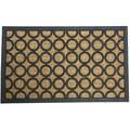 Rubber-Cal 'Tranquil Pattern' Rubber Coir Doormat (18
