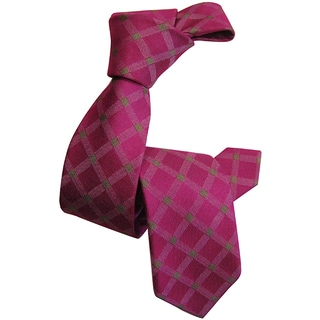 Dmitry Boy's Pink Patterned 100-percent Italian Silk Woven Tie
