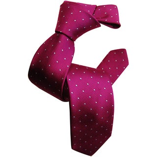 Dmitry Boy's Pink Patterned Italian 100 Percent Silk Woven Tie