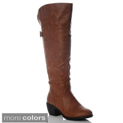 NY VIP Women's Triple Buckle Over-the-Knee Boots