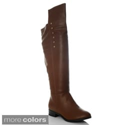 NY VIP Women's Hardware Studded Over-the-Knee Riding Boots