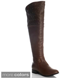 NY VIP Women's Studded Over-the-knee Riding Boots