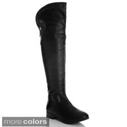 NY VIP Women's Pebbled Over-the-knee Riding Boots