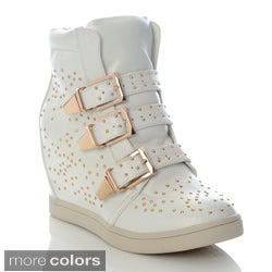 Henry Ferrera Women's Studded Wedge Sneakers
