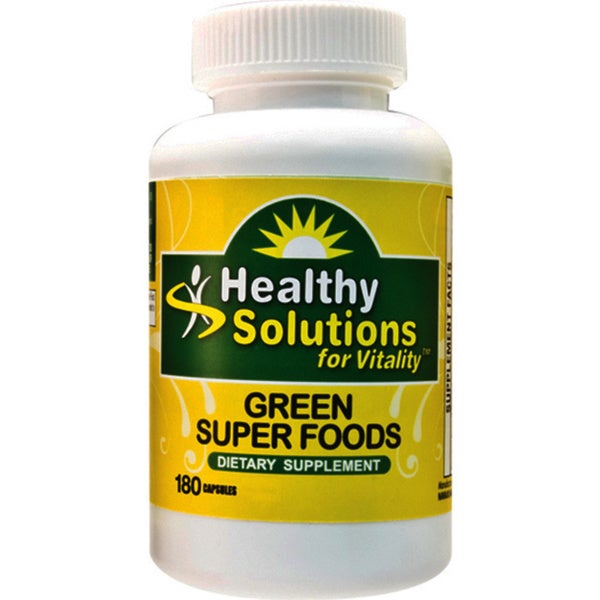 Healthy Solutions Green Superfoods Supplement (180 capsules)
