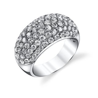 18k White Gold 2 5/8ct TDW Diamond Pave Dome Ring (G-H, SI2)
