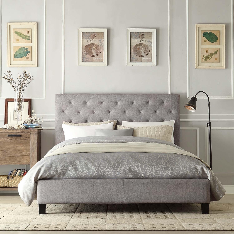 Overstock.com Sophie Grey Queen Platform Bed
