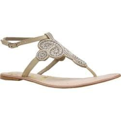 Women's J. Renee Glint Natural/Gold Nappa/Beaded