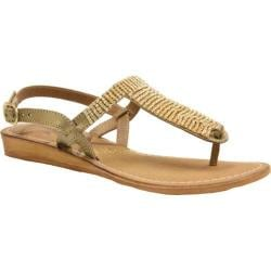 Women's J. Renee Stella Gold Metallic Nappa