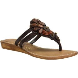 Women's J. Renee Xia Brown Nappa/Beading