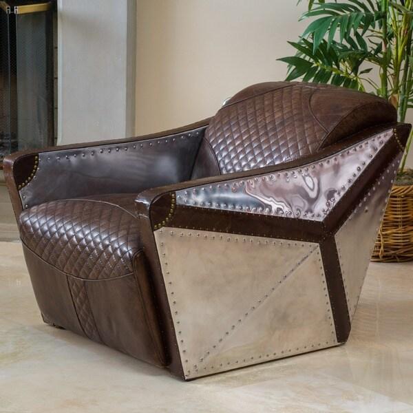 Modern Leather Chair fice Home Lounge Club Aviator