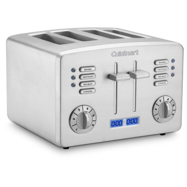 Cuisinart Brushed Stainless Steel 4-Slice Toaster with Countdown Timer