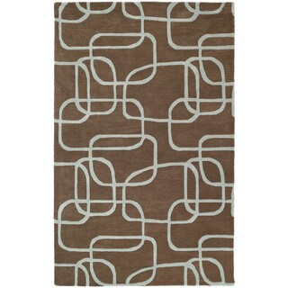 Graffix Dimensions Hand-Tufted Brown Rug (3'0 x 5'0)