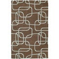 Graffix Dimensions Hand-Tufted Brown Rug (7'6 x 9'0)