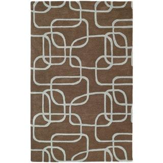 Graffix Dimensions Hand-Tufted Brown Rug (8'0 x 11'0)