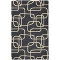 Graffix Dimensions Hand-Tufted Charcoal Rug (3'0 x 5'0)