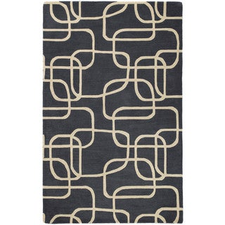Graffix Dimensions Hand-Tufted Charcoal Rug (7'6 x 9'0)
