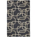 Graffix Dimensions Hand-Tufted Charcoal Rug (8'0 x 11'0)
