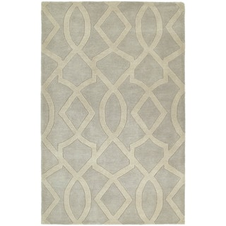 Graffix Hand-Tufted Light Grey Rug (5'0 x 7'9)