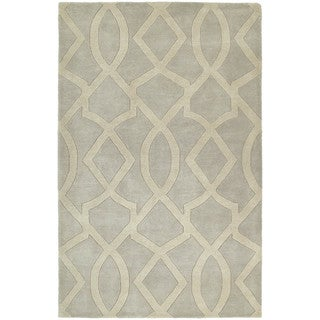 Graffix Hand-Tufted Light Grey Rug (8'0 x 11'0)