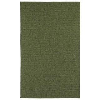 Malibu Indoor/Outdoor Woven Green Rug (5'0 x 8'0)