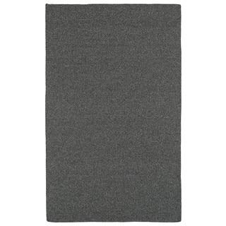 Malibu Indoor/Outdoor Woven Charcoal Rug (3'0 x 5'0)