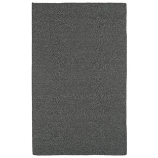 Malibu Indoor/Outdoor Woven Charcoal Rug (5'0 x 8'0)