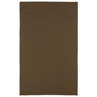 Malibu Indoor/Outdoor Woven Chocolate Rug (5'0 x 8'0)