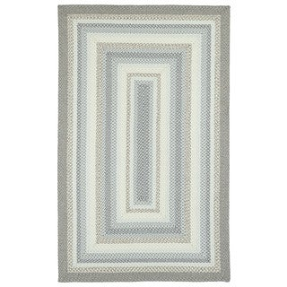 Malibu Indoor/ outdoor Woven Grey Rug (9'x12')