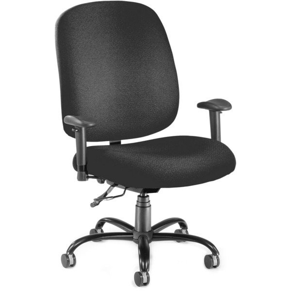 OFM Adjustable Ergonomic Black Office Chair