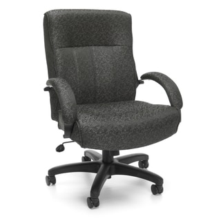 OFM Big & Tall Black/ Grey Executive Chair