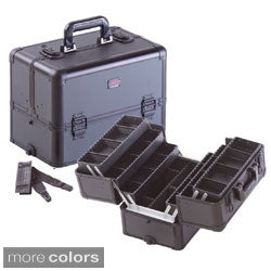 Seya 6 Trays Professional Cosmetic Case with Adjustable Plastic Dividers