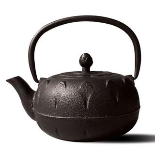 Chubu' Matte Black Cast Iron 18-ounce Teapot