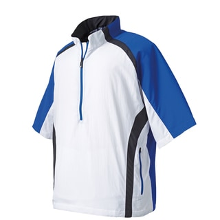 FootJoy Men's Blue and White Short Sleeve Sport Windshirt