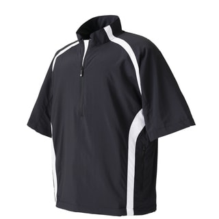 FootJoy Mens Black and White Short Sleeve Sport Windshirt